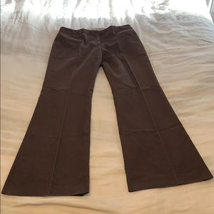 Tahari brown slacks cotton poly blend 30/34